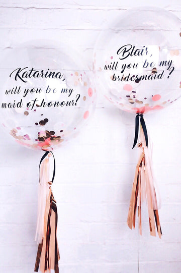 bridal announcement balloon