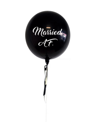 Married AF black orb balloon