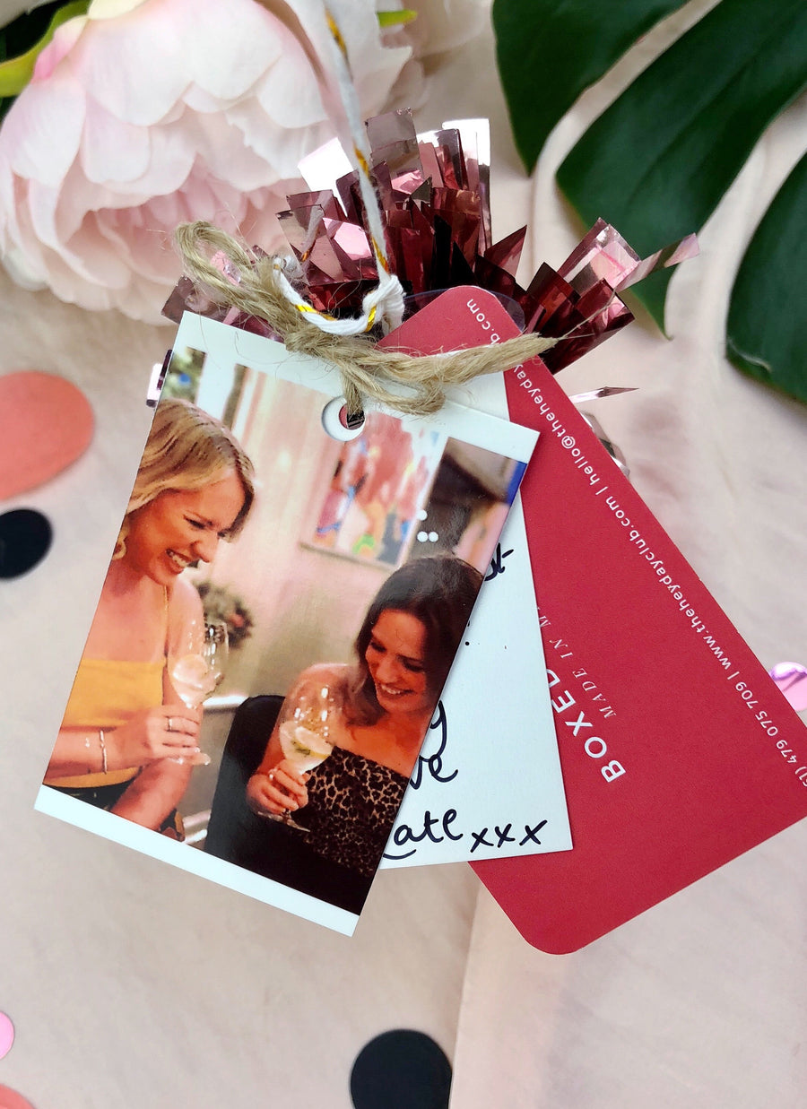 The Heyday Club personalised gift tag Polaroid