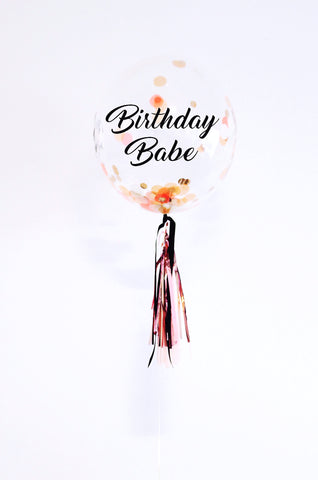 """birthday babe"" bubble"