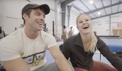 Alec Smith and Dani Speegle on POWER MONKEY CAMP