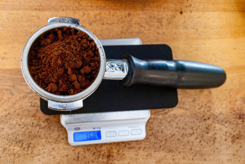Weighing Espresso Grounds