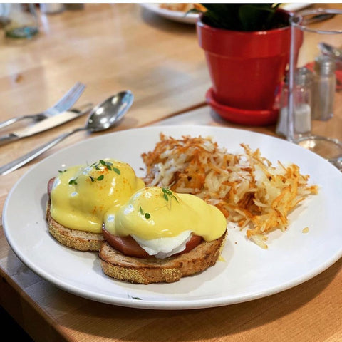 Eggs benedict at Red Spire Brunch House