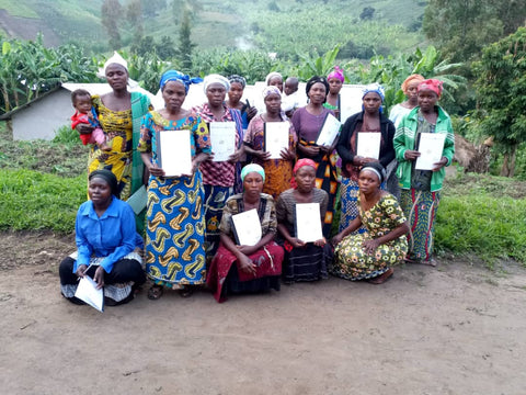 Women participating in literacy workshops, DRC