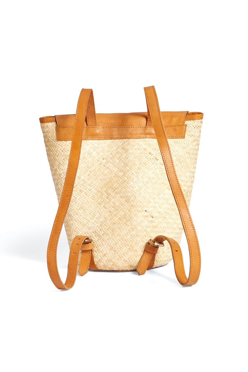 Natural Woven Back Pack