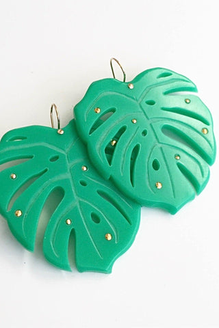 OASIS Monstera Earrings- Large