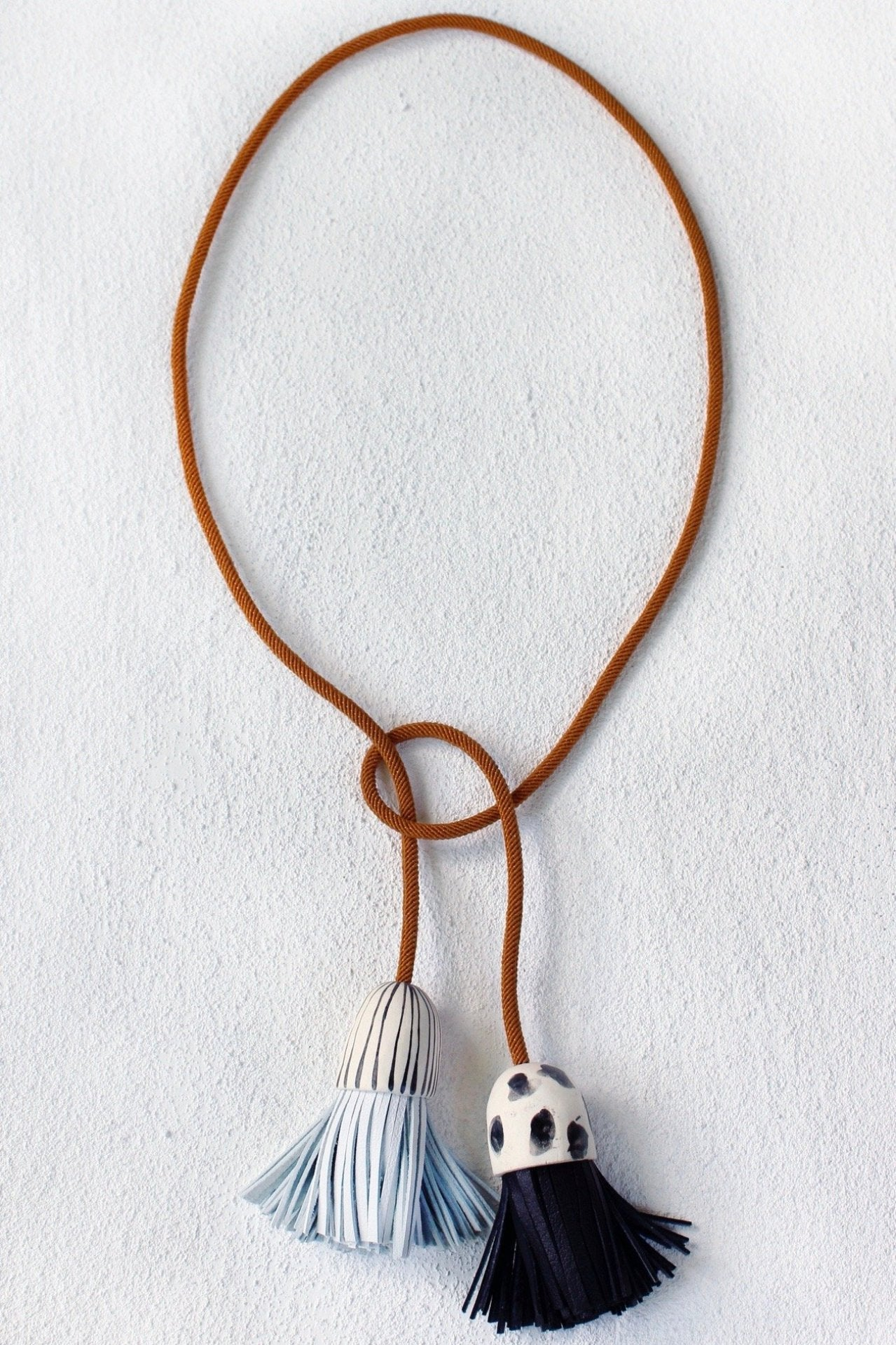 BELL Tassel Lariat Necklace