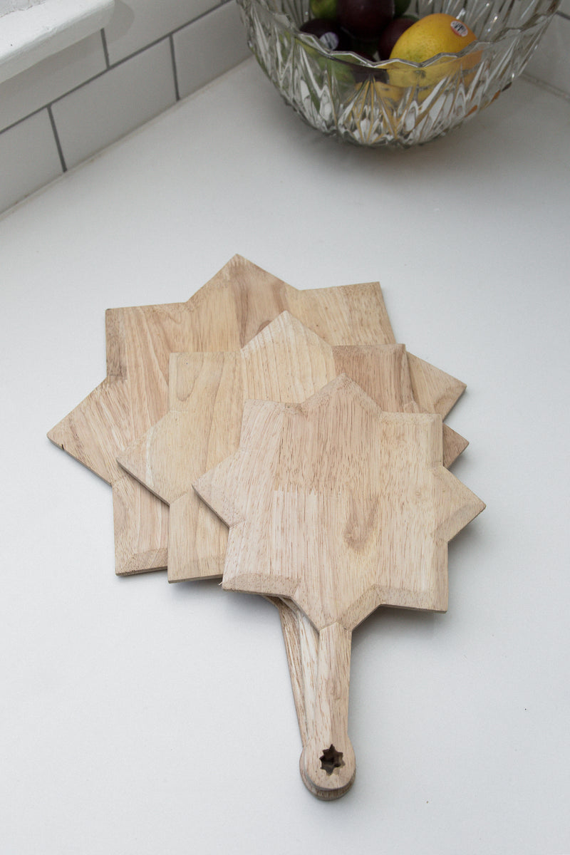 Star Cheese and Cutting Board
