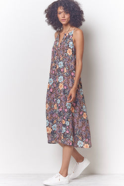 MELISSA Button Tank Dress - Floral
