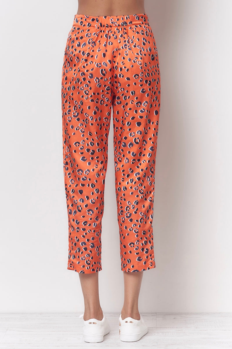 SHEILA Carrot Pleated Pant - Leopard