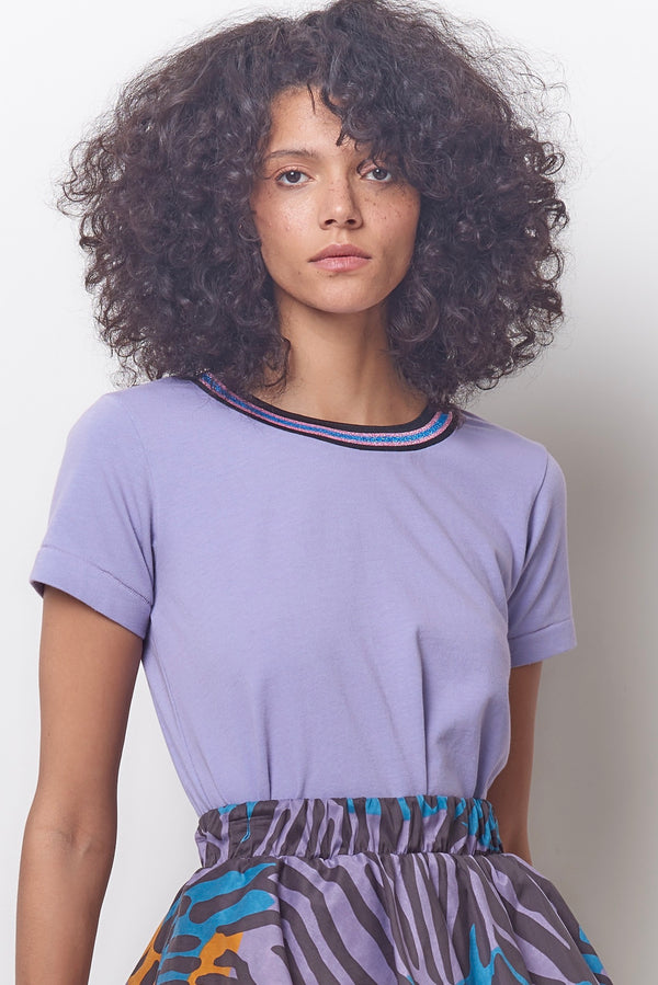 MOLLY Ringed Tee - Lavender