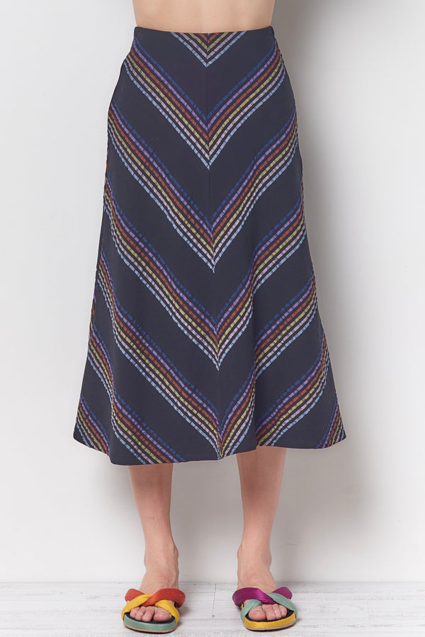 LINDA Aline Skirt - Stripe