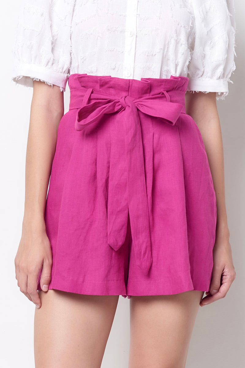ALEXA High Waisted Shorts - Linen