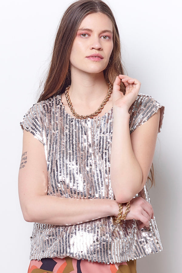 AMALA Sequin Top