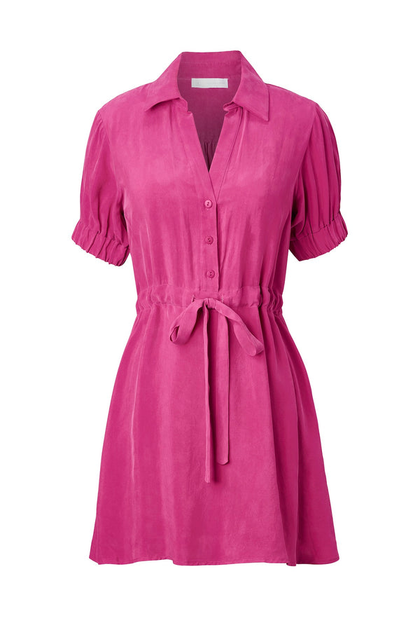 LEILA Mini Shirt Dress - Cupro