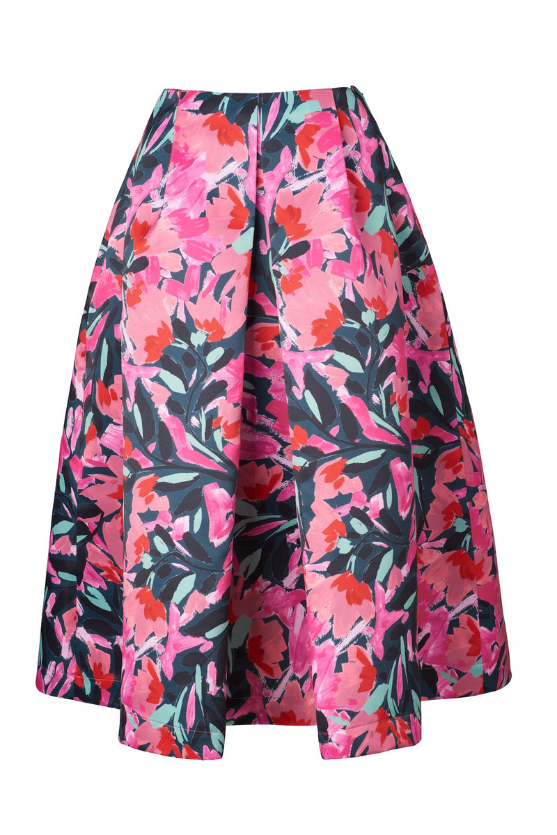 KEIKO Box Pleat Skirt - Party Bouquet