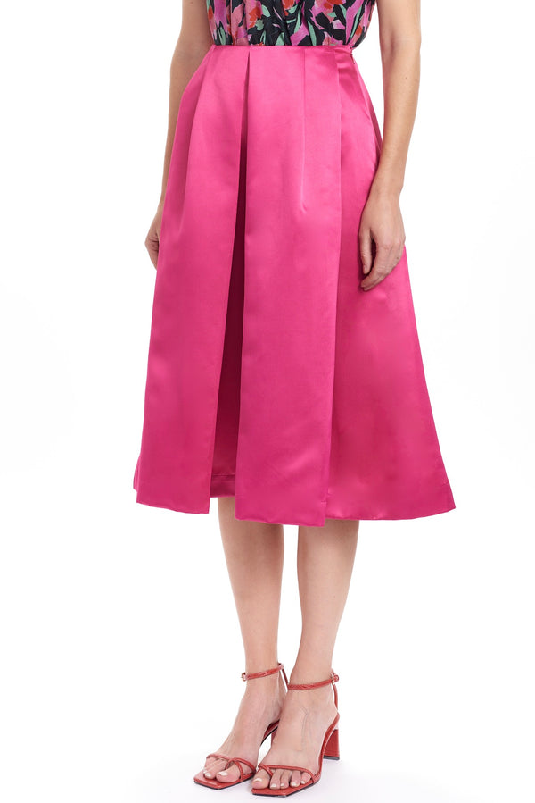 KEIKO Box Pleat Skirt - Solid
