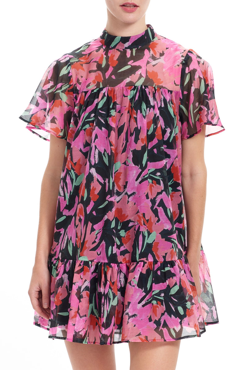 TAMMY Babydoll Dress - Floral