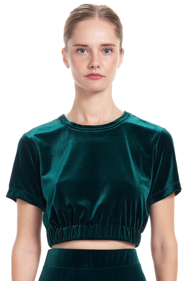 MAEVE Cropped Tee - Emerald