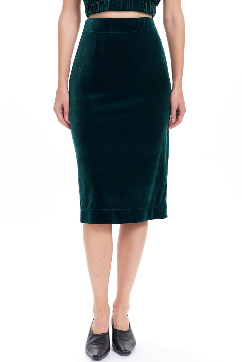 ZOLA Knit Pencil Skirt - Emerald