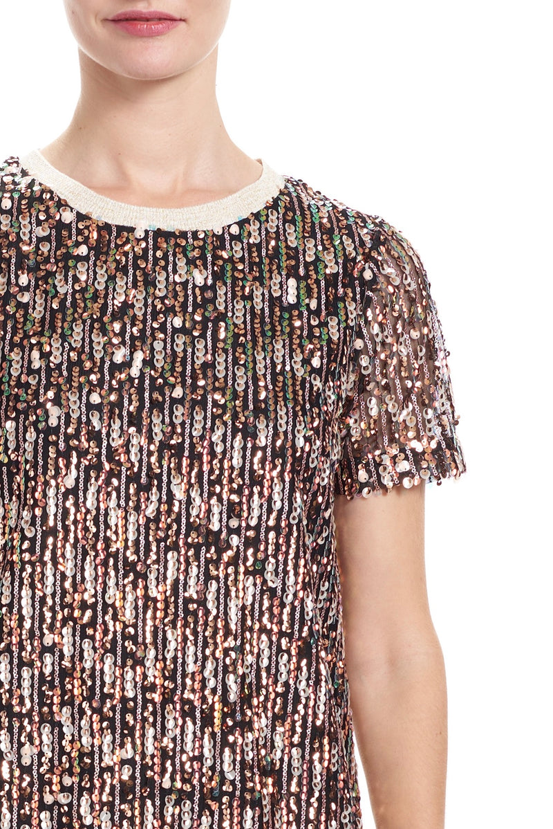 NIKI Sequin Tee Mini Dress