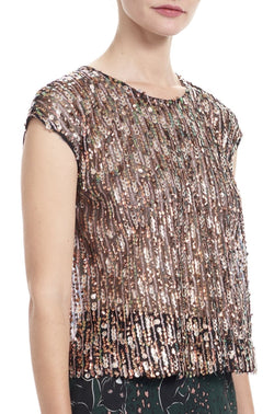 AMALA Sequin Stripe Top