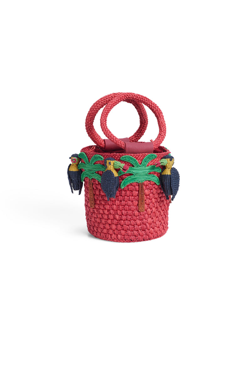 LAUREN TOUCAN Straw Bag