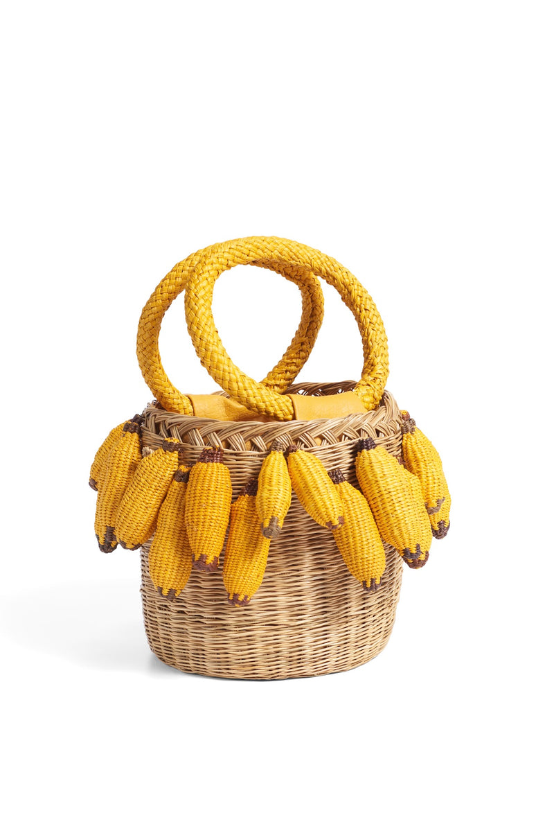 BANANA Straw Bucket Bag