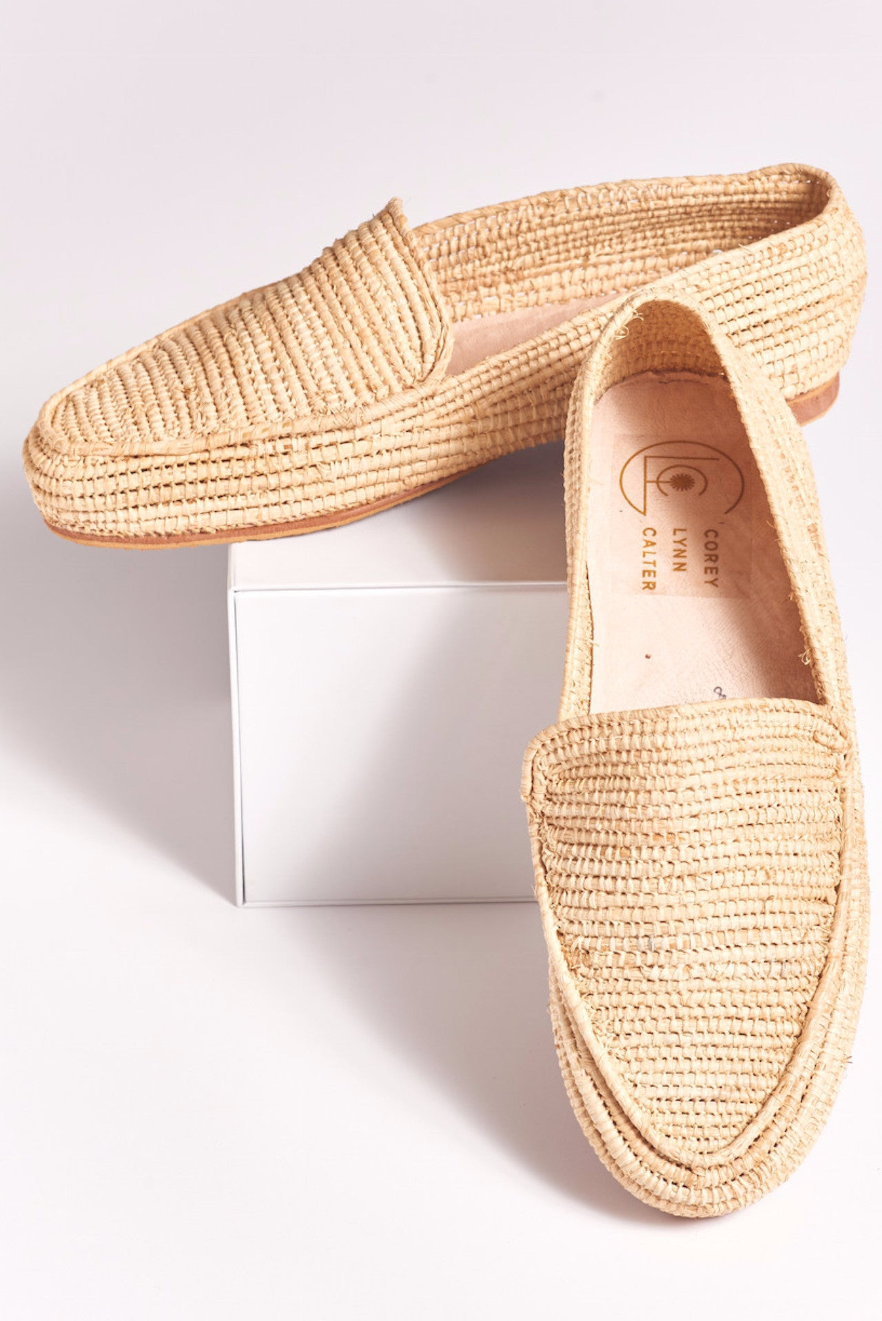 44a768680b9 SHELBY Hand Made Raffia loafers – CLC by Corey Lynn Calter