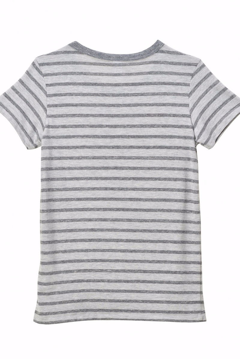striped crew tee for women