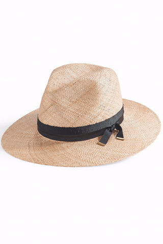 EAMES Straw Fedora Hat in Natural