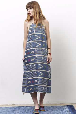 ZOLA one of a kind African Indigo dress-3