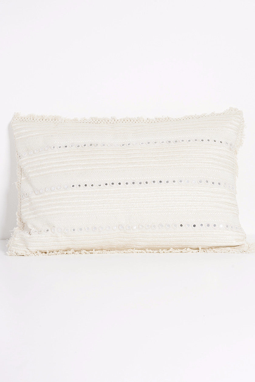 Embroidered Mirrored Rectangular Pillow