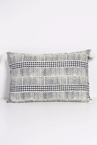 Arrow Block Print Embellished Pillow