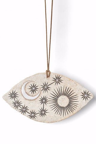 MQuan Eye Shaped Ornament with Sun/Moon/Stars