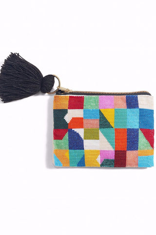 bdab7abf584 GEO Hand Beaded Pouch Bag