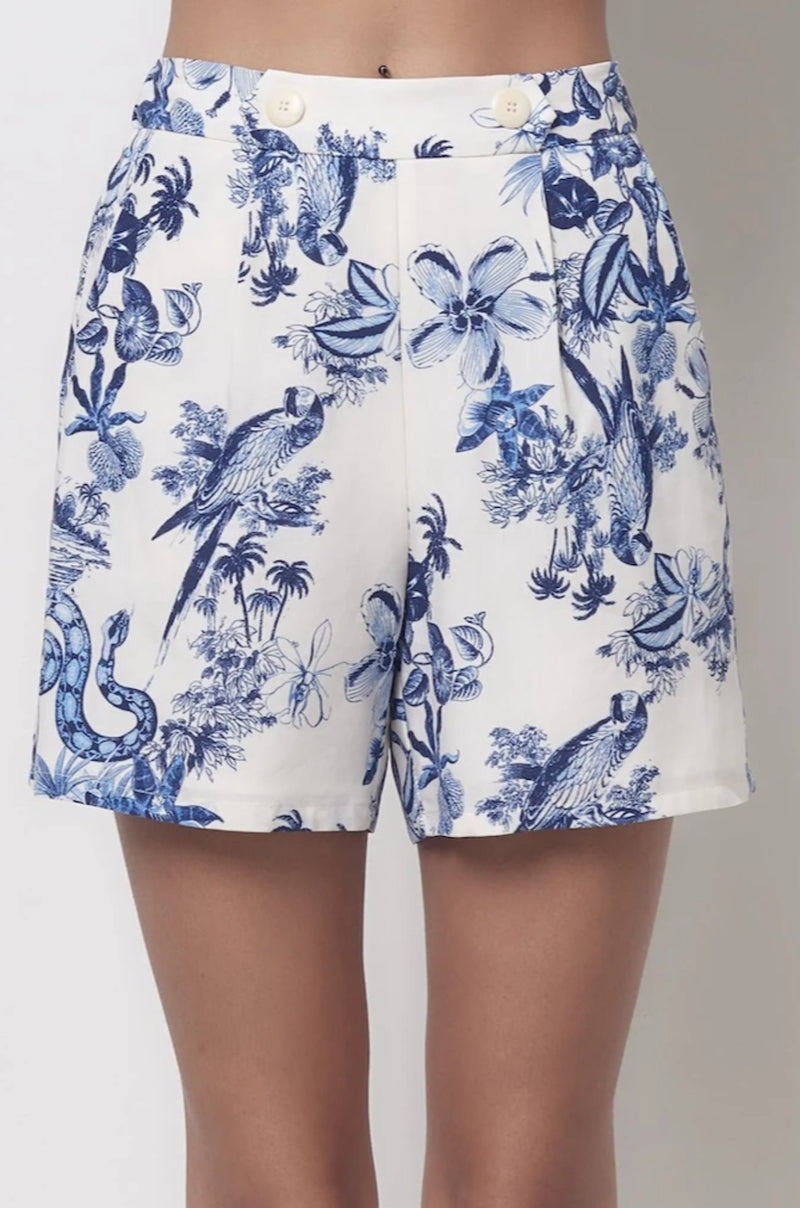 JORDAN Shorts With Tab - Toile Print