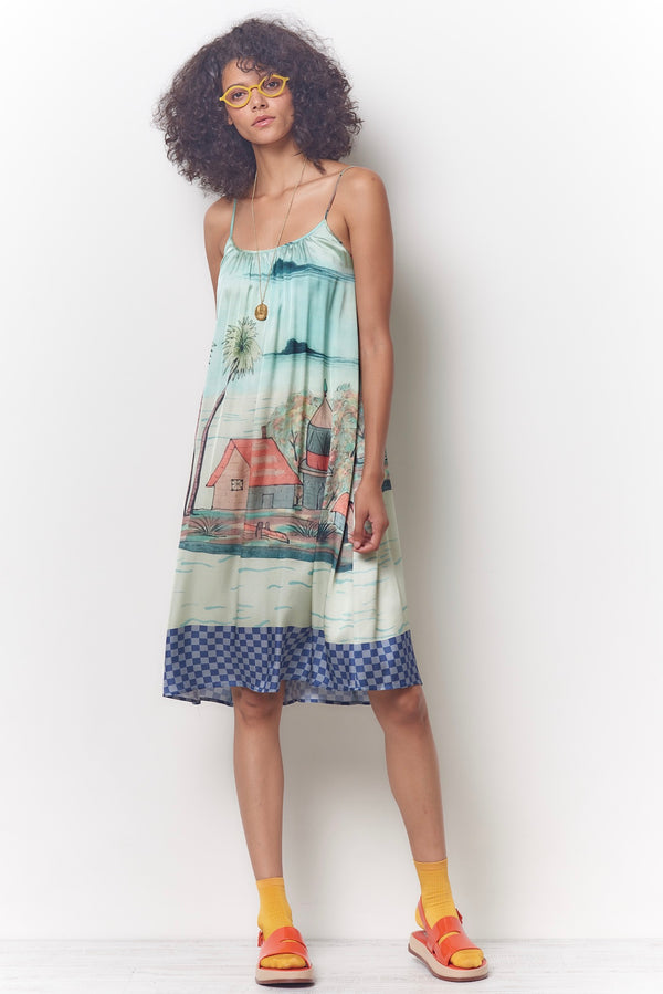 CARLOTTA Dress - Seaside Print