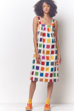 MARYL Sun Dress - Color Swatch Ikat