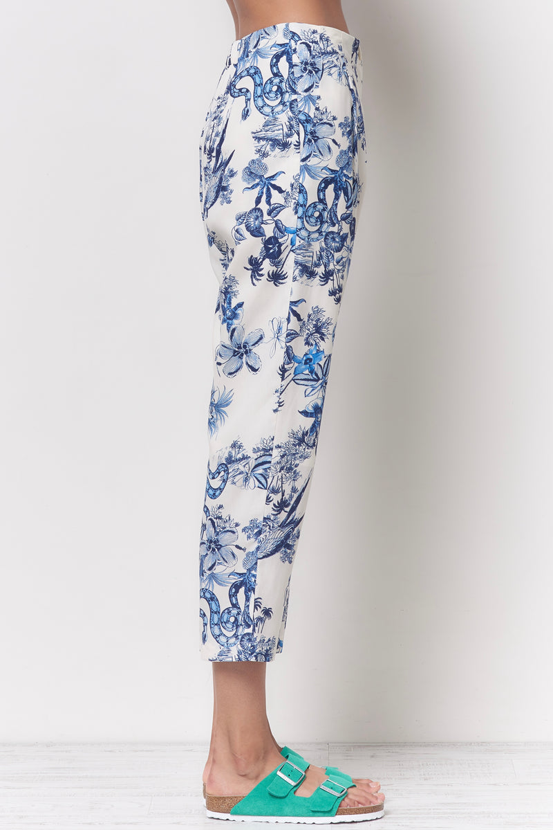 SHEILA Carrot Pleated Pant - Toile Print
