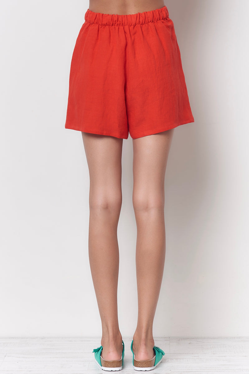 JORDAN Shorts With Tab - Linen