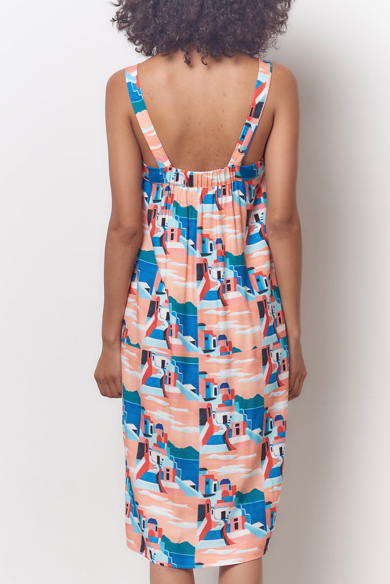 MARYL Sun Dress - Capri Print