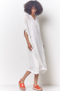 White Embroidered Caftan