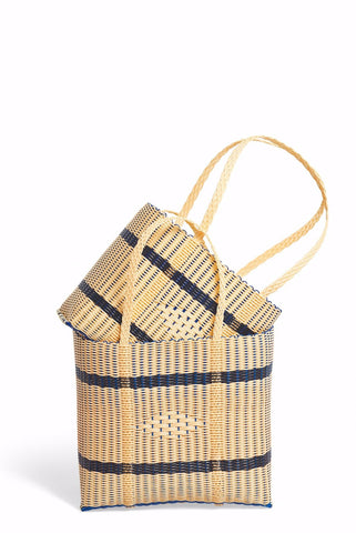 Handmade Eco Friendly Tote Bags TAN/BLK