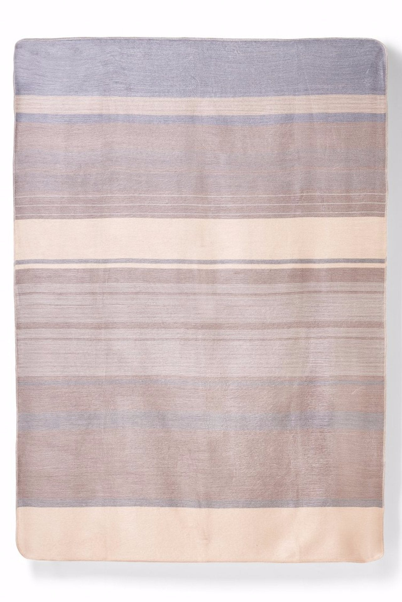 Alpaca Super Soft Striped Throw- Neutral