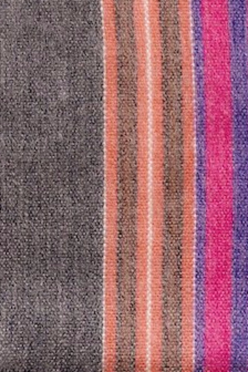 Alpaca Super Soft Striped Throw- Multi