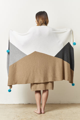 d8abd80fe00 Cashmere Mountain Blanket with Pompoms