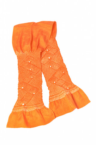 Japanese Obiage Handmade Silk SCARF orange shades
