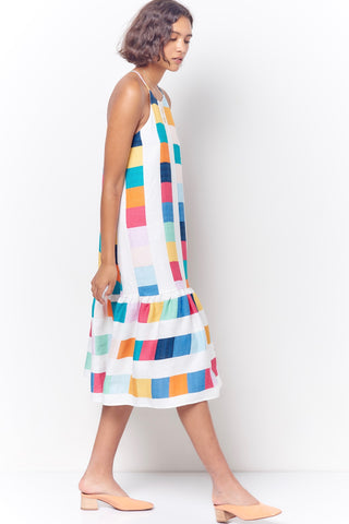 DAISY Drawback Halter Dress - Stripe