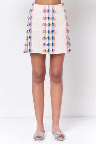 COLETTE Patch Pocket Skirt - Blocks